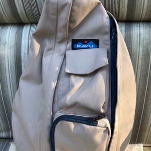 Kavu Khaki Blue Polyester Backpack Sling